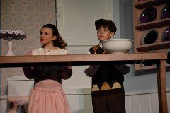 Jane and Michael Banks in Mary Poppins theatrical performance