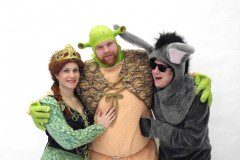 Fiona, Shrek and Donkey