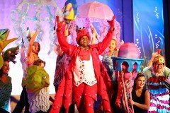 Sebastian and Background Actors for The Little Mermaid with Quality Costumes