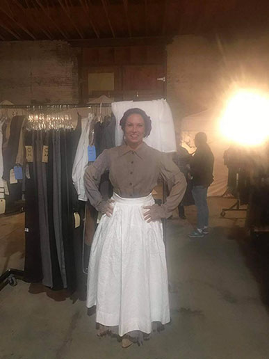 costumes on set