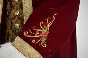 custom made Santa Claus costume suit
